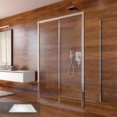 Sprchový set: LIMA, obdélník, 100x120x100x190 cm, chrom...