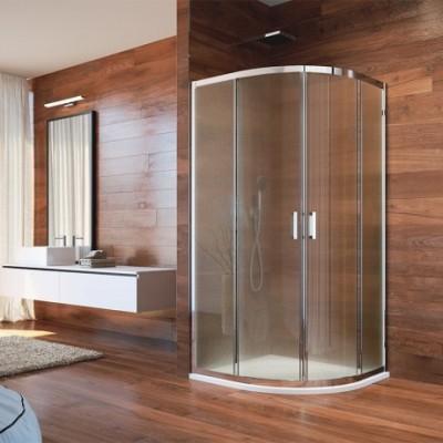 Sprchový set: LIMA, čtvrtkruh, 100x190 cm, R 550, chrom...