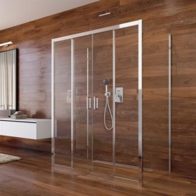 Sprchový kout, Lima, obdélník, 100x140x100x190 cm, chrom...