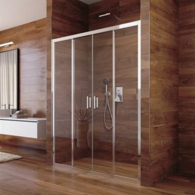 Sprchové dveře, Lima, čtyřdílné, zasunovací, chrom ALU,...