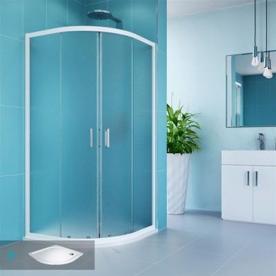 Kora sprchový set: sprchový kout R550, 90 cm, vanička, sifon