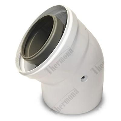 Koleno 45°, průměr 80/125 mm, kondenzační kotle