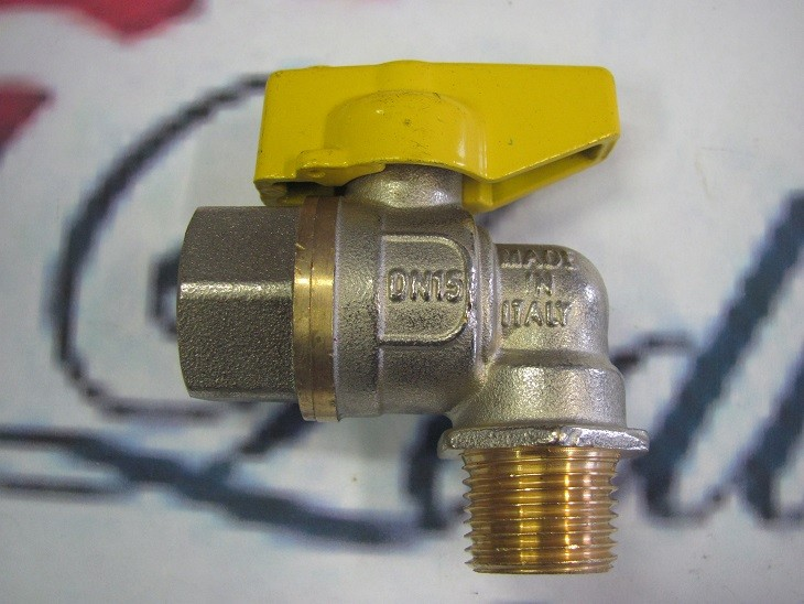 """300057 Kulový ventil 1/2"""" rohový vnitřní/vnější plynový"""