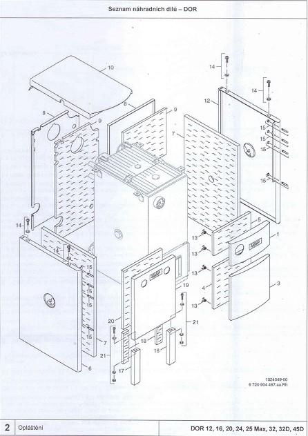 87399301840 Dakon Izolace předního panelu DOR 12, 16